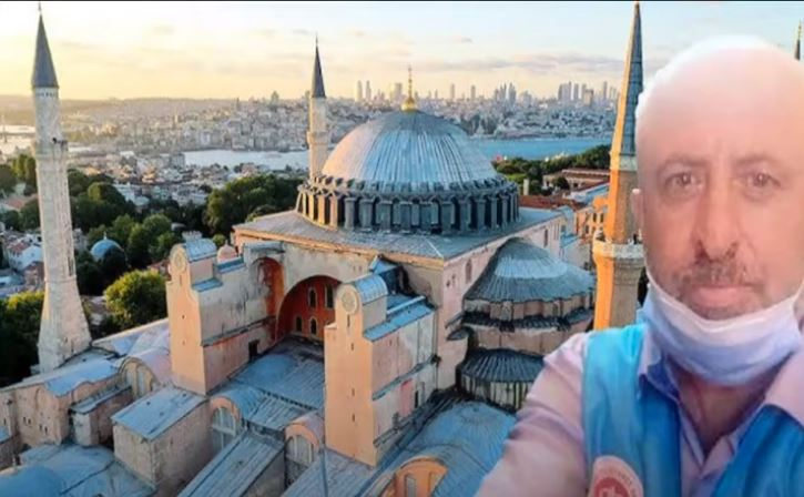 Muezzin died from heart attack in Hagia Sophia