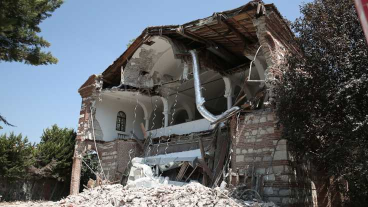 """Hagia Sophia"" of Bursa was demolished"