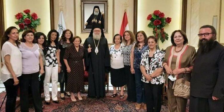 "Meeting of Patriarch of Antioch with Women's Association ""Saint Panteleimon"""