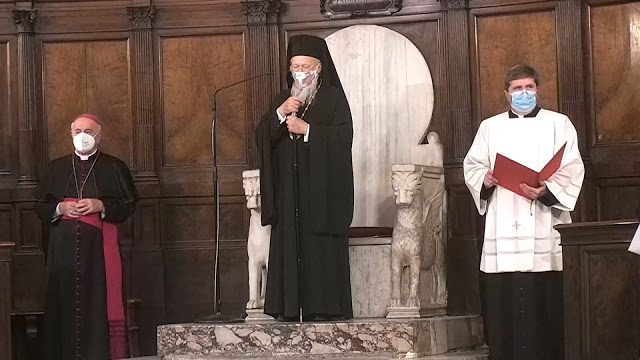 Ecumenical prayer for peace in Rome in presence of Ecumenical Patriarch Bartholomew
