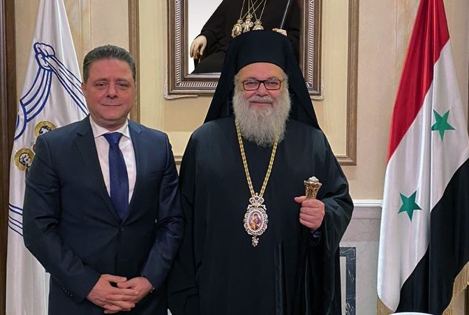 Patriarch of Antioch met Minister of Public Works and Housing