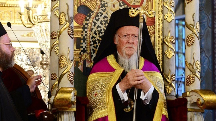 Ecumenical Patriarch celebrates at Church of Saint Georgios in Nichorion (live)