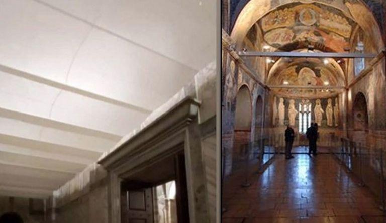 Turks erased frescoes in Chora Church