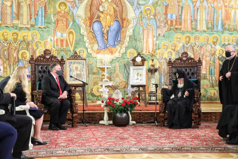 Mike Pompeo met with the Patriarch of Georgia