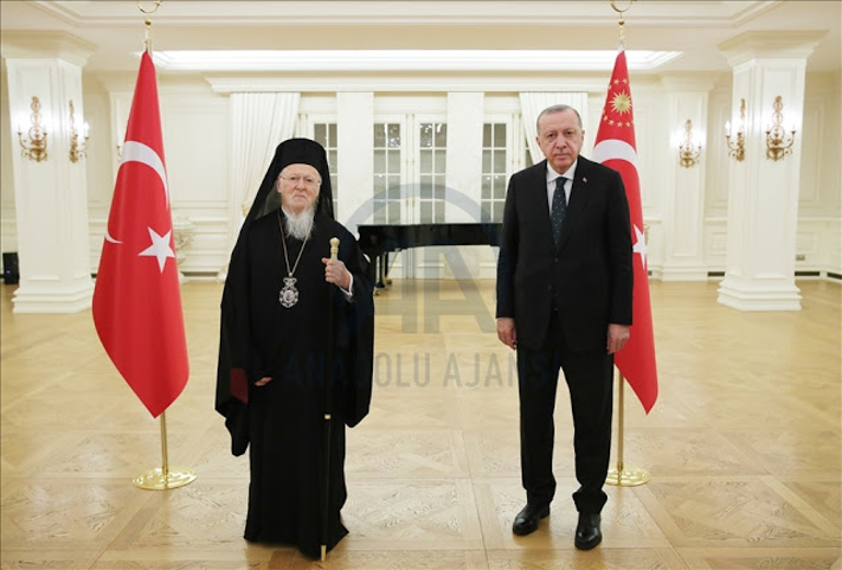 Patriarch Bartholomew and Erdoğan for Iftar dinner on May 5, 2021.