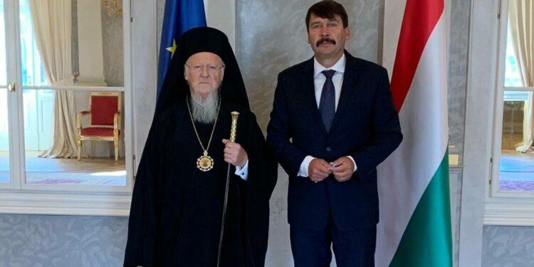 El Patriarca Ecuménico se reunió con el Presidente de Hungría